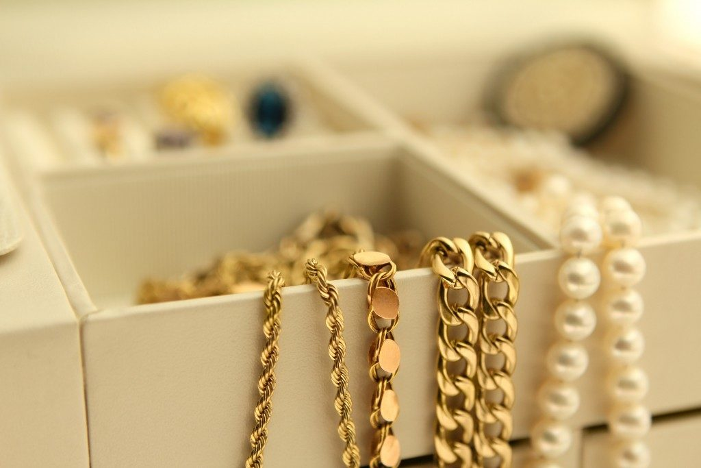 A box of anklets
