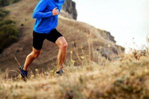 Man jogging uphill