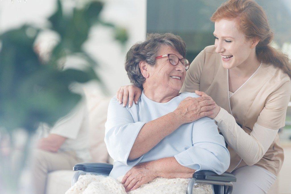Happy Nurse and Elder
