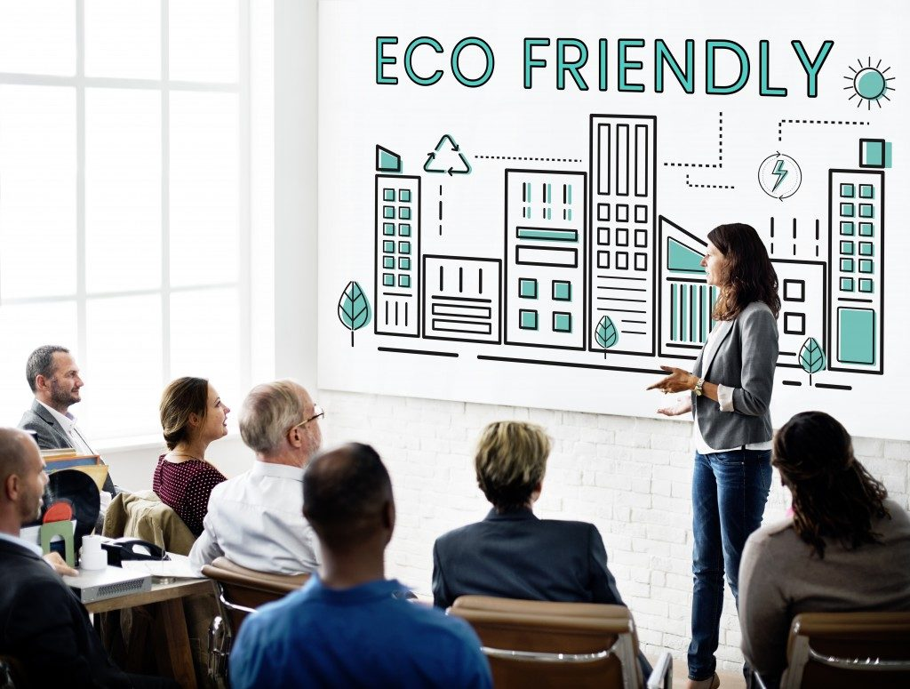 Eco-friendly area presentation concept