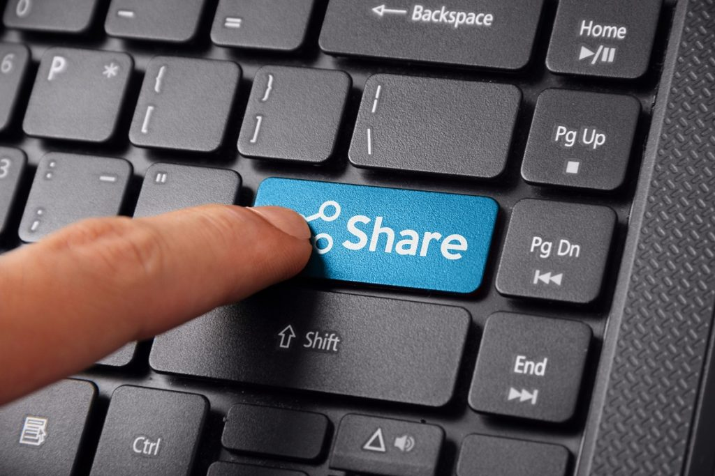 share button on keyboard