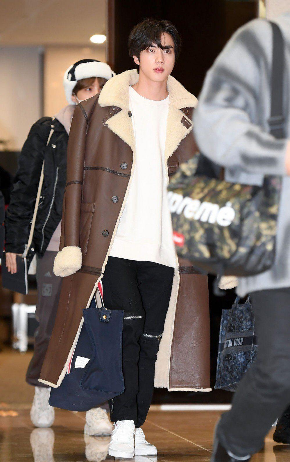 Kim-Seokjin-wearing-a-coat