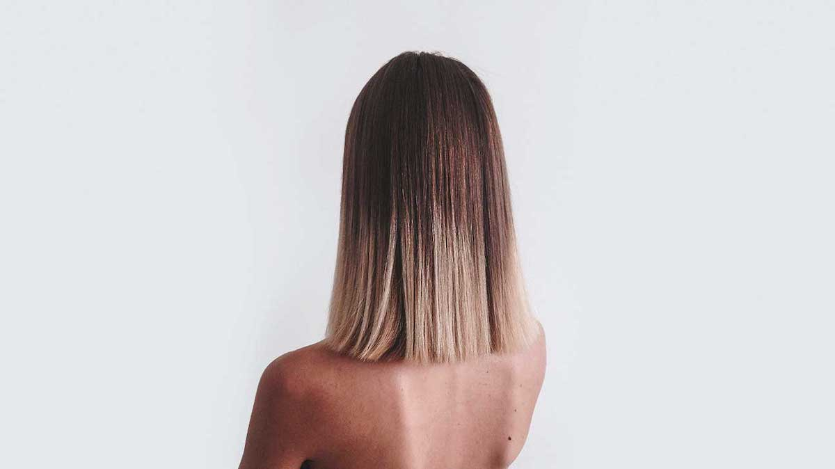 back of a woman's head