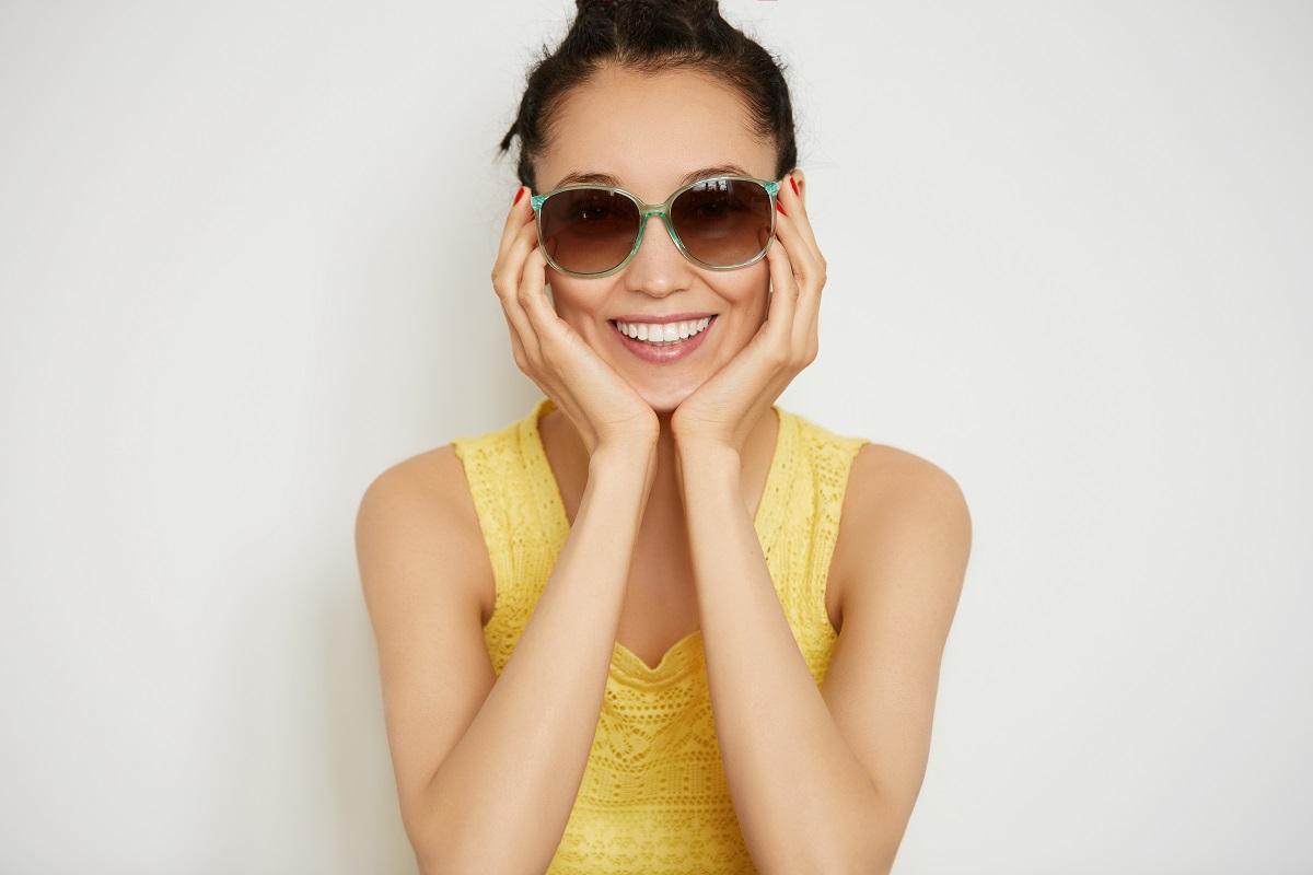 wearing sunglasses