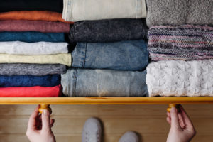 cabinet of clothes