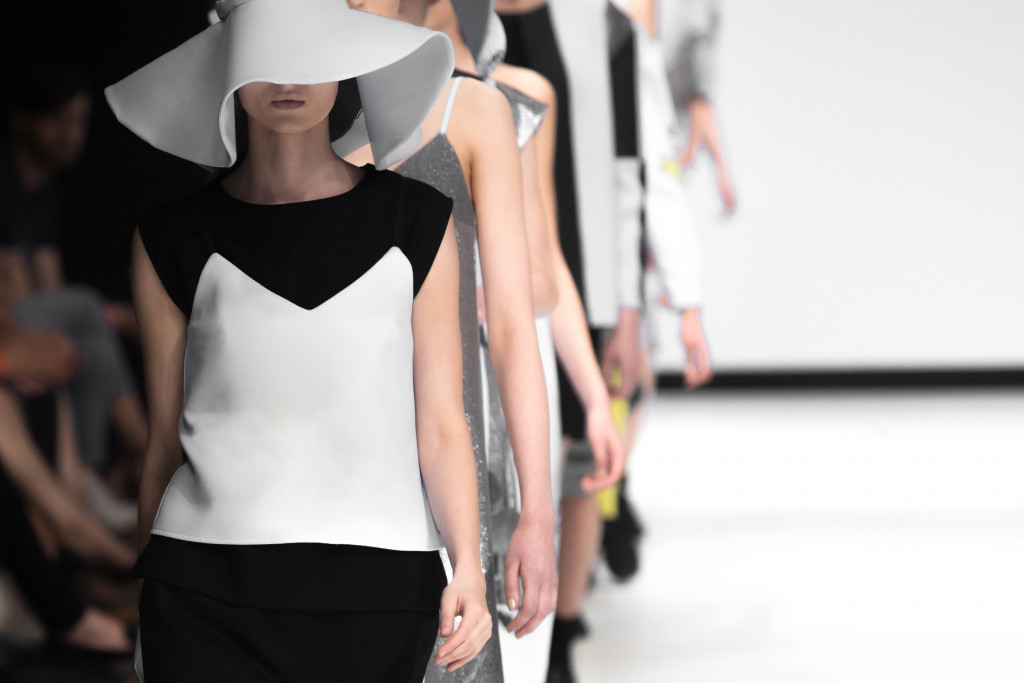 fashion model in catwalk